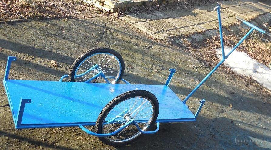 Как сделать из велосипедных колес тачку