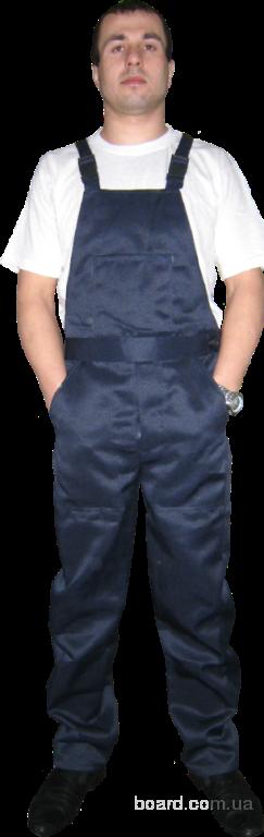 Полукомбинезон рабочий ткань саржа синий