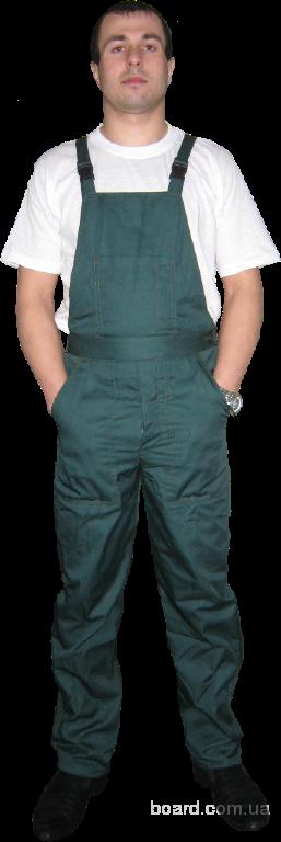 Полукомбинезон с курточкой синий-зеленый