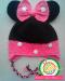 Детская шапочка Минни вязаная крючком