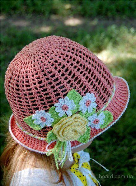 Летнии шляпки и панамки крючком