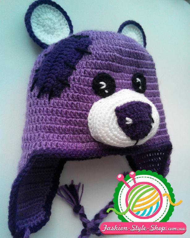 Вяжу на заказ детские шапочки Тедди