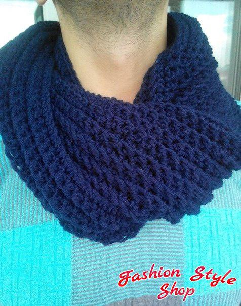 Недорогие вязаные крючком шарф-снуд