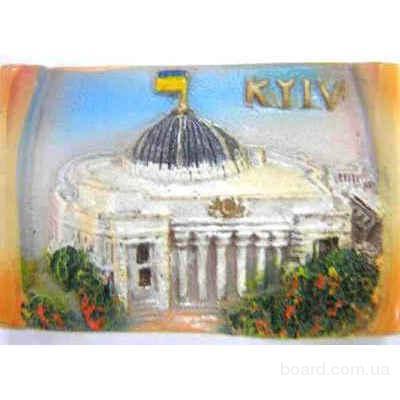 Сувенирные магниты - исторические места Киева, выполненные в технике 3D