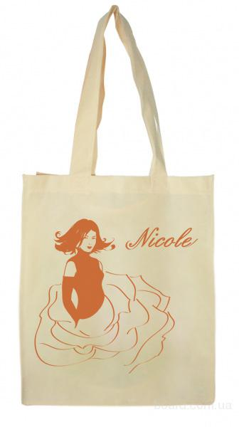 Эко-сумки под заказ  с печатью.