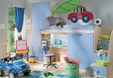 Продается детская стенка кровать-чердак со шкафом и пеналом для книг
