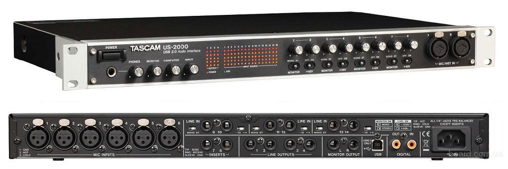 Продаются со студии Tascam US-2000 Аудио интерфейс