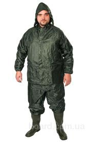Костюм пвх - нейлон куртка+брюки (зеленый)
