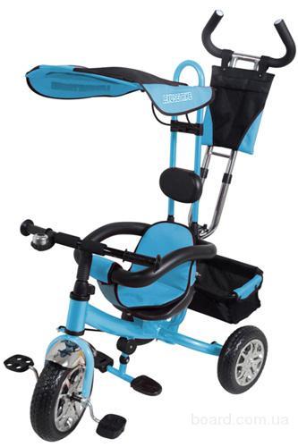 Велосипед трехколесный 1411 голубой