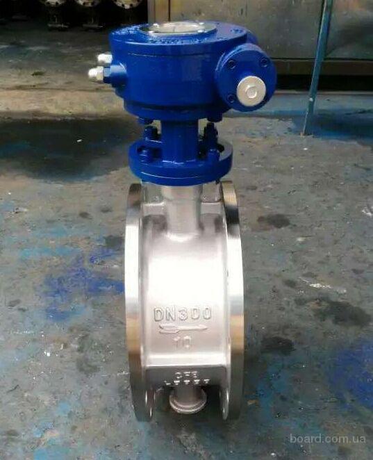 D343W-Затвор дисковый поворотный фланцевый нержавеющий с уплотнением металл-металл