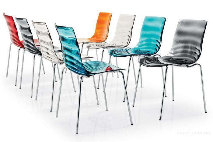 Стильные итальянские стулья L'EAU от Calligaris купить Киев