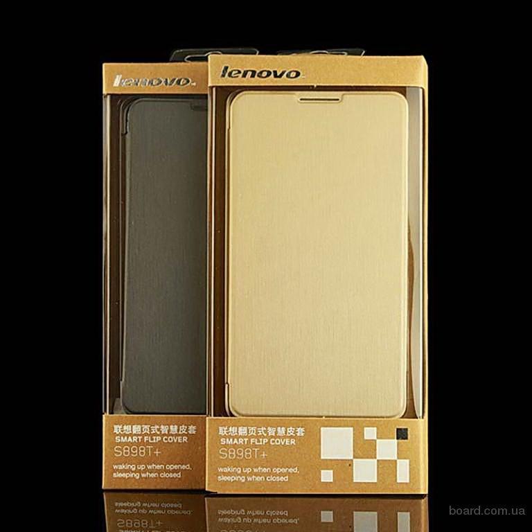 Чехол-книжка lenovo s8 s898t+и s898t - gold и black - оригинал !
