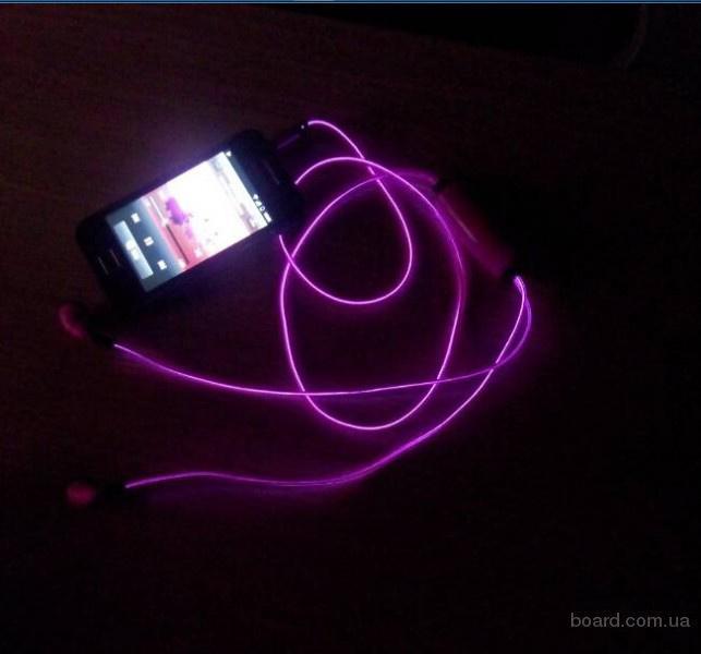 Продать.Уникальные светящиеся наушники Glow Earphone (гарнитура для телефона Глоу Ирфон)