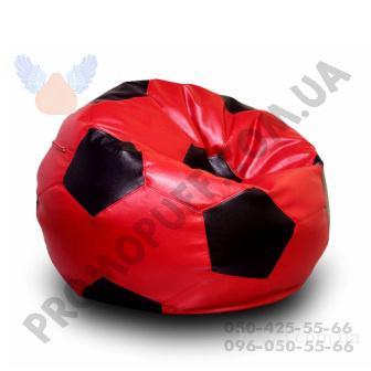Кресло мяч из искусственной кожи Rainbow. Кресло мешок мяч в Украине.