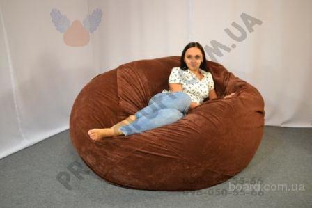 Кресло мяч из ткани Флок. Кресло мяч купить в Украине. Гарантия от производителя.