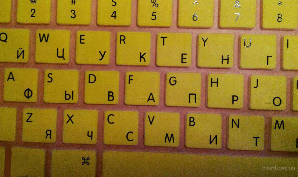 "Накладка на клавиатуру с русскими буквами MacBook Pro/Air 13, 15, 17"""