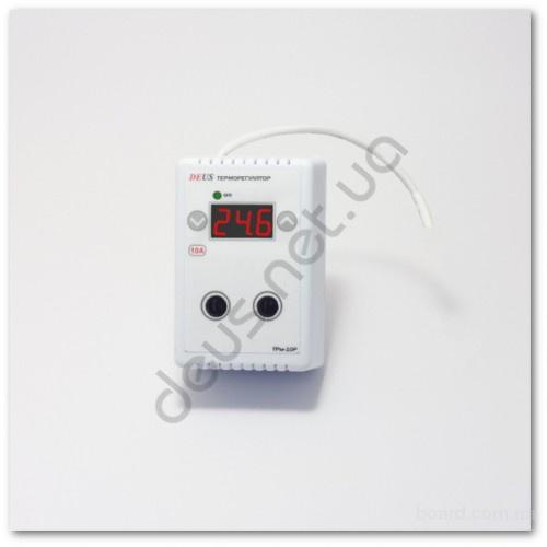 Терморегулятор 10А (термореле) электронный, цифровой для обогревателей, ИК панелей.