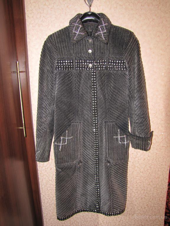 Пальто плащ вельветовое