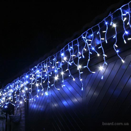 Новогодние гирлянды,световая бахрома,световое оформление здания