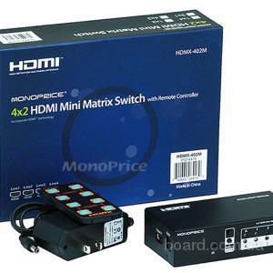 Матричный сплиттер HDMI 4х2