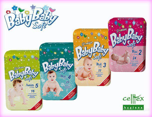 Детские подгузники Baby Baby Soft (Словакия).