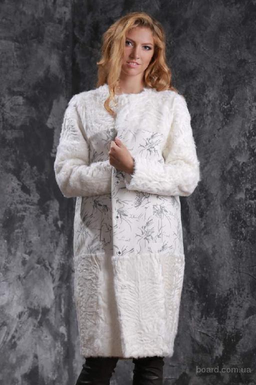 Пальто из белого тибетского ягненка и ка