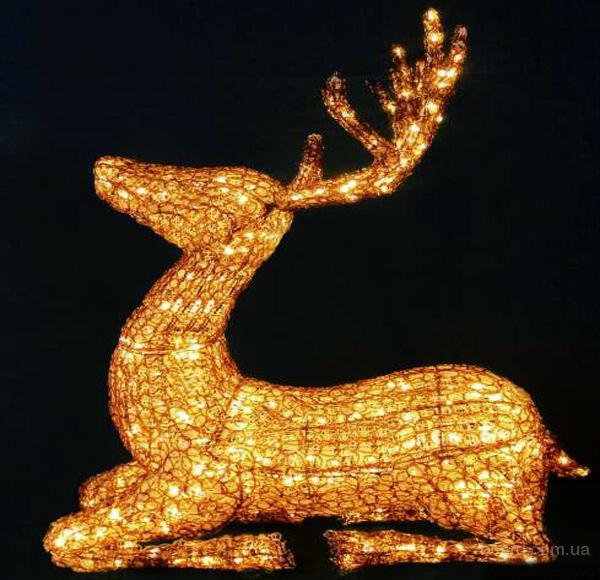 Новогодние подарки,купить светодиодного оленя (103 см)