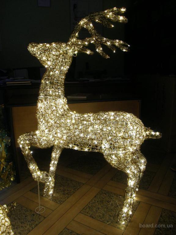 Новогодние подарки 2016, световой олень купить в Киеве