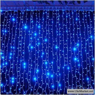 Гирлянда дождь занавес 2х1 метр,праздничное оформление окон,витрин
