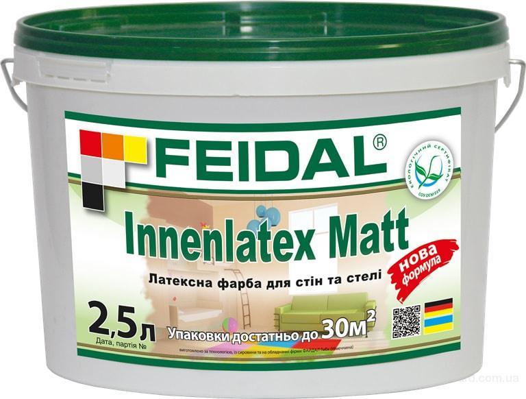 Латексная краска для стен и потолков Innenlatex Matt