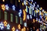 Гирлянды. Новогоднее, праздничное , вечернее украшение фасада, деревьев