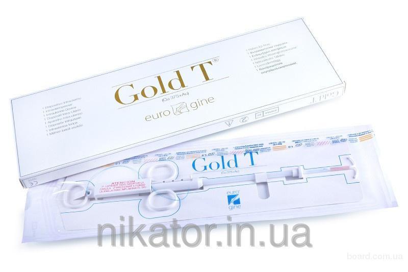 Контрацептив внутриматочный Gold T (Cu 375+Au) (медь + золото)