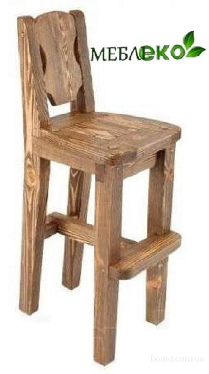 Барные стулья для кафе и бара из массива, Барный Стул Вожак