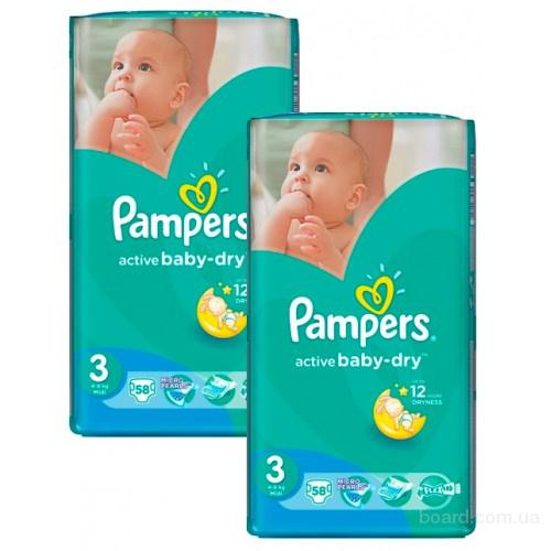 Подгузники Pampers Active Baby 4+ Maxi Plus (9-16кг) 96шт Giant Box Plus