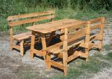 Набор мебели из дерева для сада, дачи, в беседку, на террасу / Код: Нм-6.