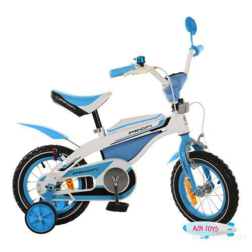 Велосипед Profi детский двухколесный 12 д. бело-голубой 12BX405-1