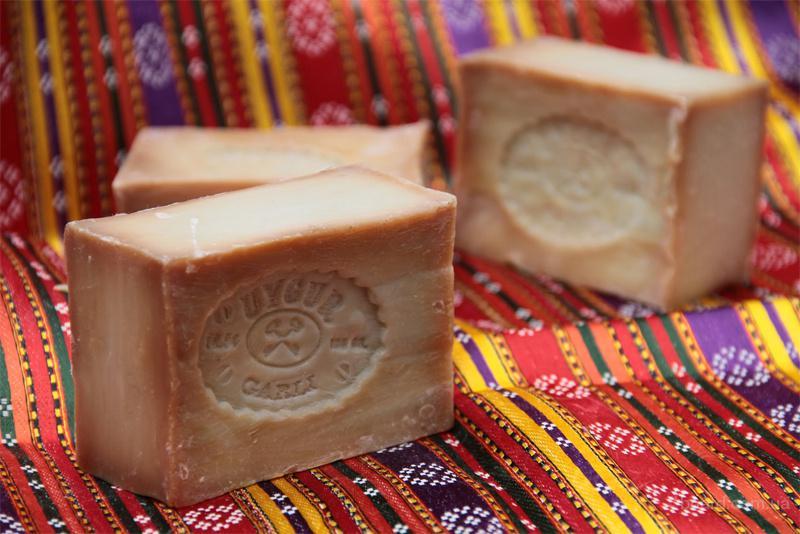Оливковое мыло для турецкой бани .