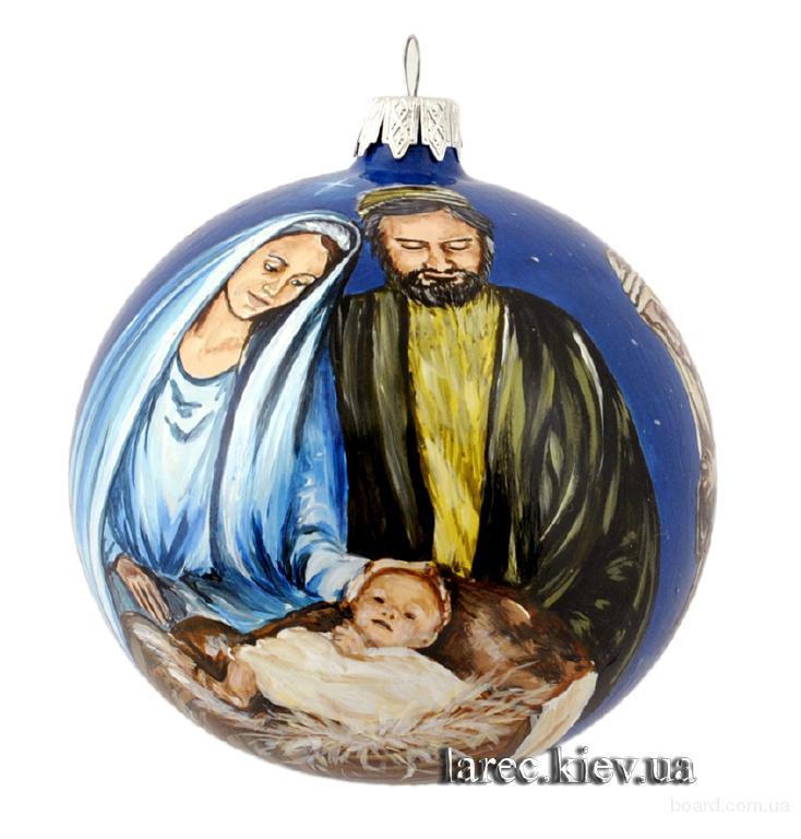 Эксклюзив! Новогодний шар Рождения Иисуса ручная работа