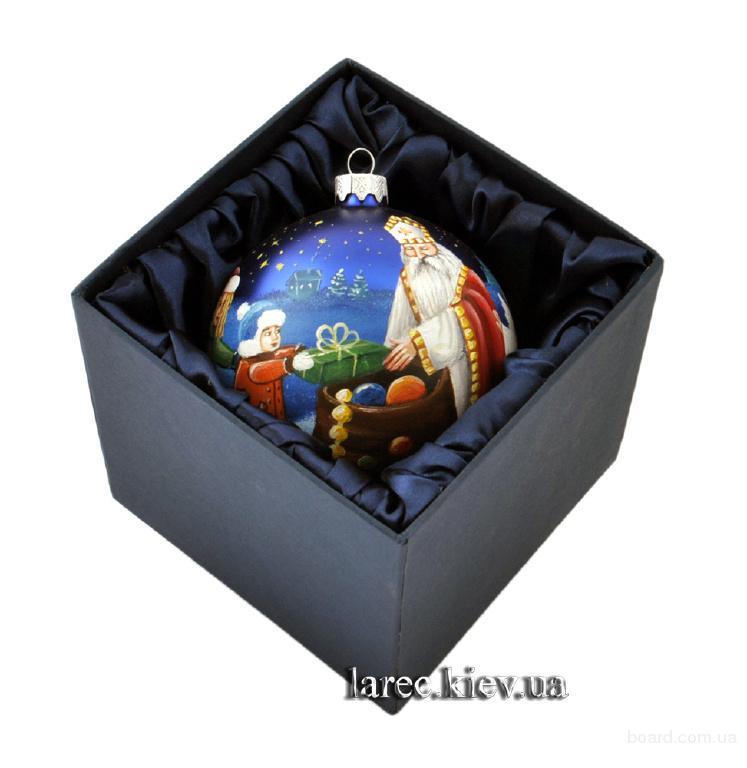 Новогодний шар Святой Николай купить подарок в Киеве. Новогодние подарки 2016