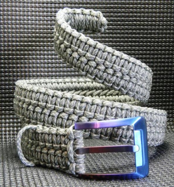 Паракорд плетение ремень