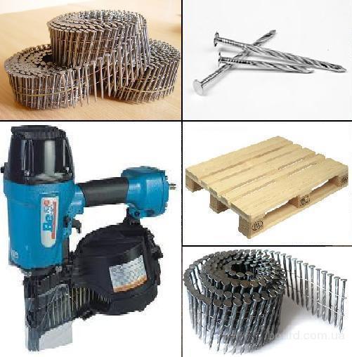 Гвозди EPAL крученые 40, 70, 90 мм - для изготовления поддонов, палет. Поддоны, паллеты, контейнеры деревянные неразборные конструкции, ящики для дров
