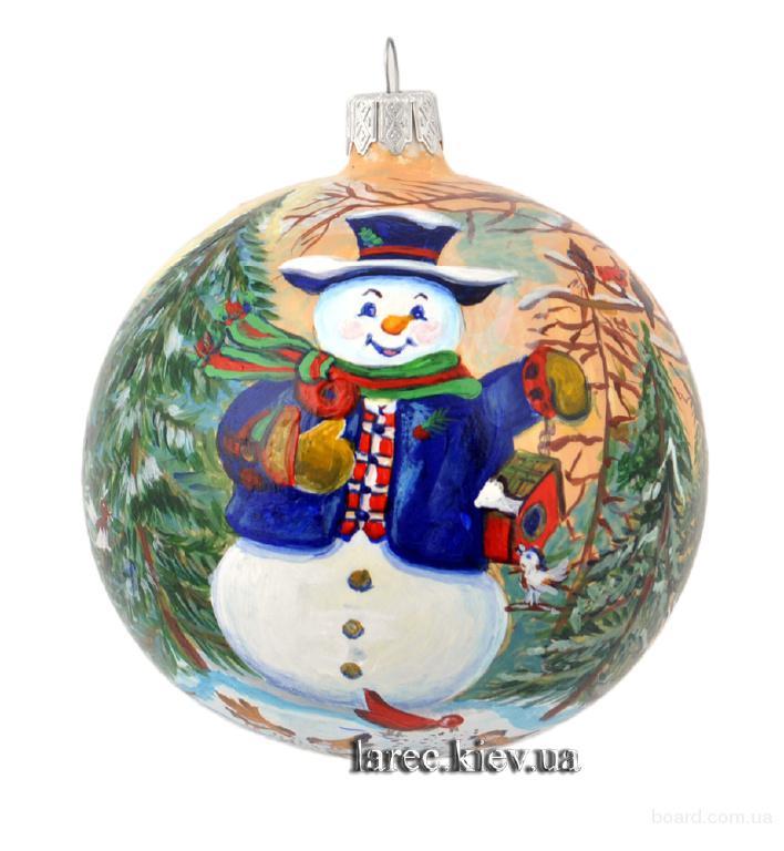 новогодний елочный шар ручная работа. Купить подарок на новый год другу