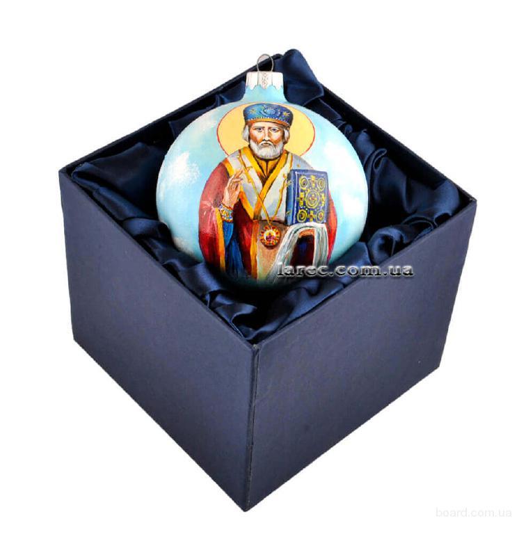 Вип ёлочный шар Санта ручная работа подарок на новый год женщине купить