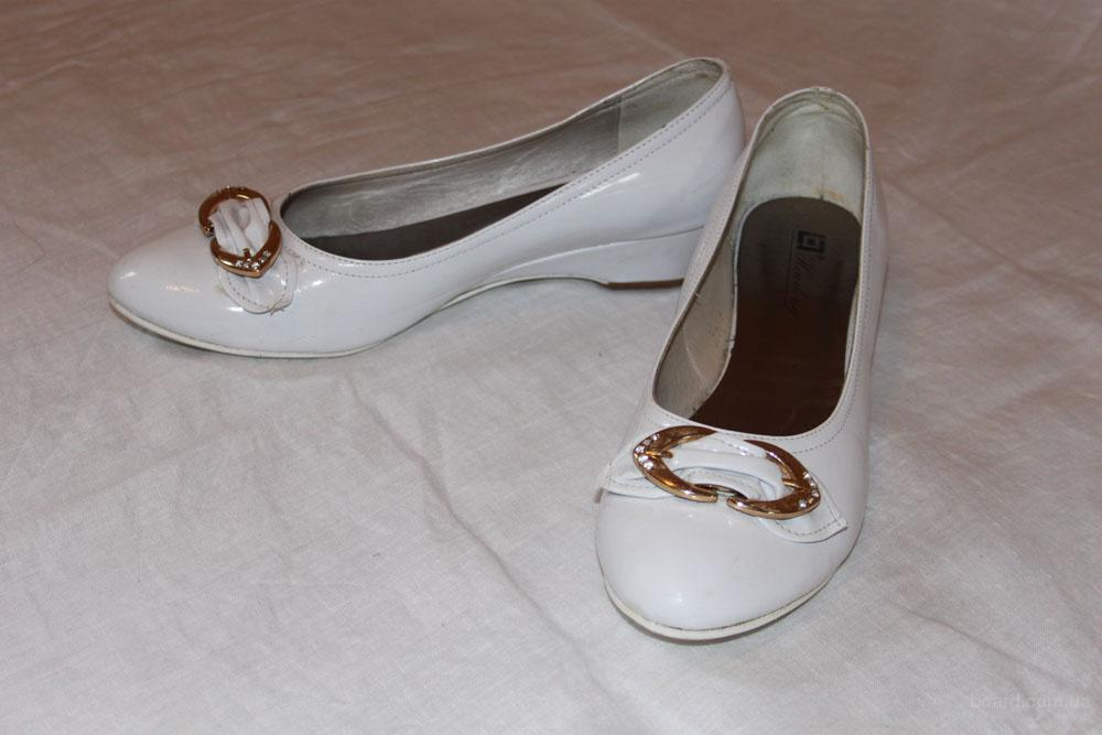 Туфли белые, разм. 24,5
