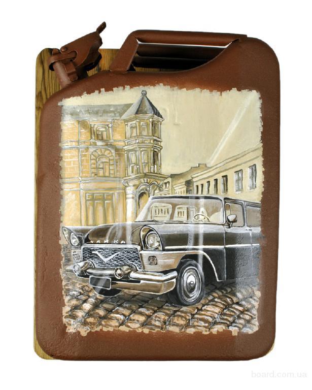 """подарок на Новый год мужчине автолюбителю светильник в виде канистры ручная роспись """"Чайка"""""""