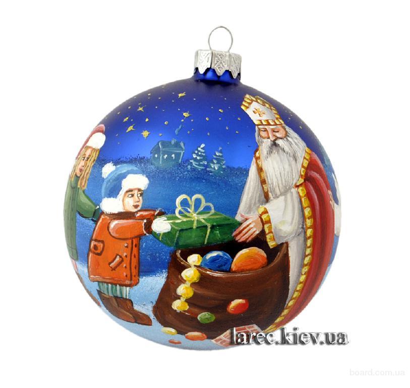 ёлочный шар Николай Угодник подарок на день Святого Николая купить в Украине