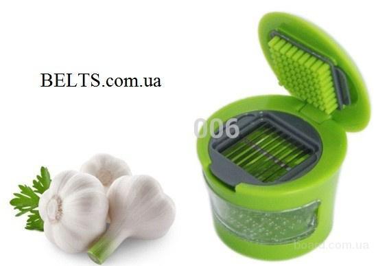 Цина.Измельчитель чеснока Garlic Chopper, овощерезка для чеснока Галик Чоппер, 2 насадки.