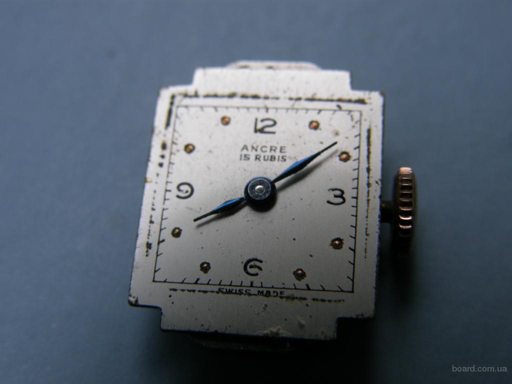Часы, Ancre Швейцария, 17 рубинов, раритет 1920-1940 года