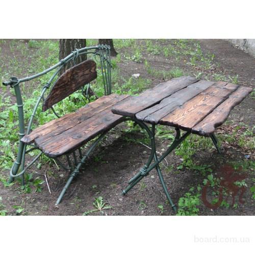 Кованая садово-парковая мебель