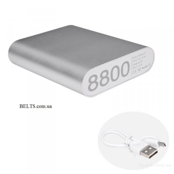 Цина.Мобильное зарядное устройство  8800 Alum